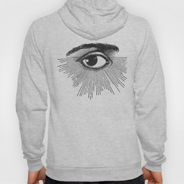 I See You. Black and White Hoody