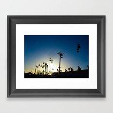 Sunset at the Boardwalk Framed Art Print