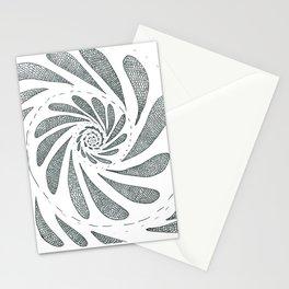 Spiral black ink on paper Stationery Cards