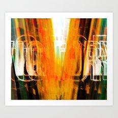 VICTORY-V-WALL Art Print