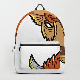 European Bison Mono Line Art Backpack