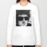 bob dylan Long Sleeve T-shirts featuring Bob Dylan by Drawn by Nina