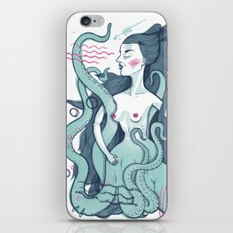 Octopus lady iPhone Skin