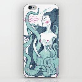 Octopus lady iPhone Skin