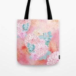 Gold dahlia bouquet #society6 Tote Bag