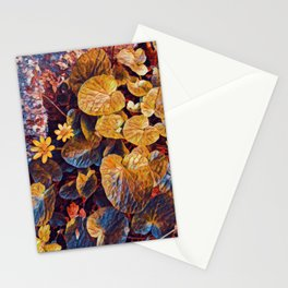 Water wild flower painting floral Stationery Cards