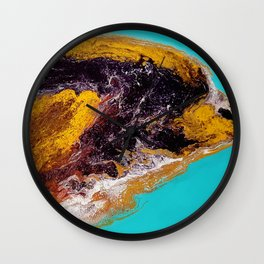Dolphin, acrylic durty cup, Abstract Wall Clock