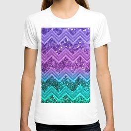 Unicorn Glitter Chevron #3 #shiny #decor #art #society6 T-shirt