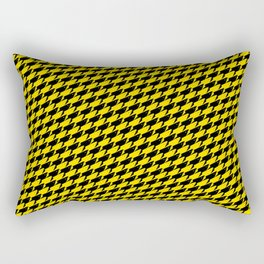 Sharkstooth Sharks Pattern Repeat in Black and Yellow Rectangular Pillow