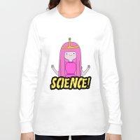 princess bubblegum Long Sleeve T-shirts featuring Princess Bubblegum Love Science by Illustrations by Krishna Tabanera