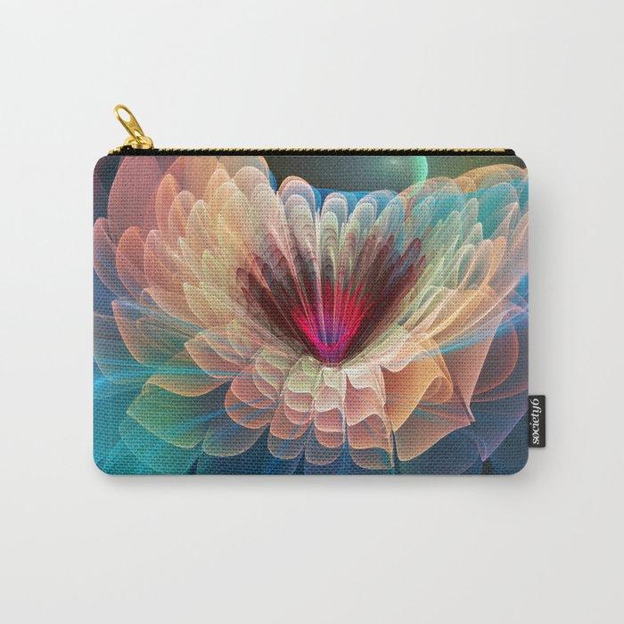 Moon Flower, artistic fractal art Carry-All Pouch