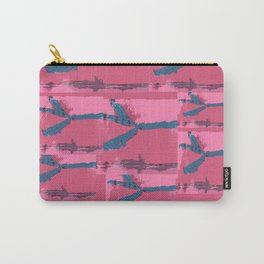 Pink Silk Barbed Wire, fiber art mixed media, abstract Carry-All Pouch