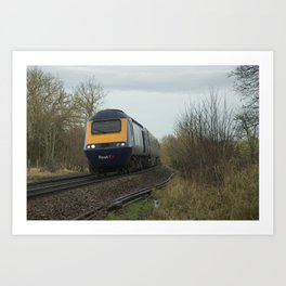 Whiteball HST Art Print