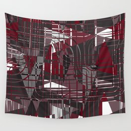 Land of Red Wall Tapestry