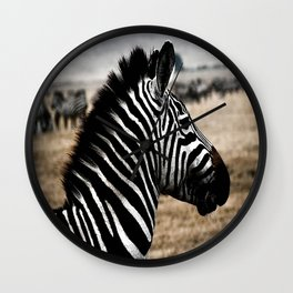 Zebra Africa Wall Clock