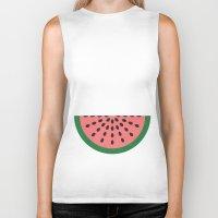 watermelon Biker Tanks featuring Watermelon by Karolis Butenas