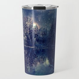 Winter Forest Deep Pastel Travel Mug
