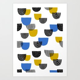 Retro Geometry 1 Art Print