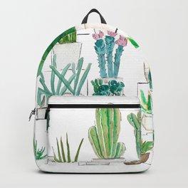 cacti garden watercolor Backpack