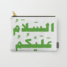 Peace Be Upon You (Arabic Calligraphy) Carry-All Pouch