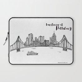 Ink Sketch Pittsburgh Skyline Laptop Sleeve