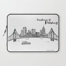 Ink Sketch Pittsburgh Skyline Laptop Sleeve