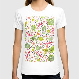 Fruits and vegetables pattern (7) T-shirt