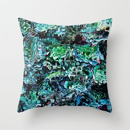Turquoise Garden of Glass Throw Pillow