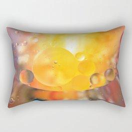 Oily bubbles abstract Rectangular Pillow