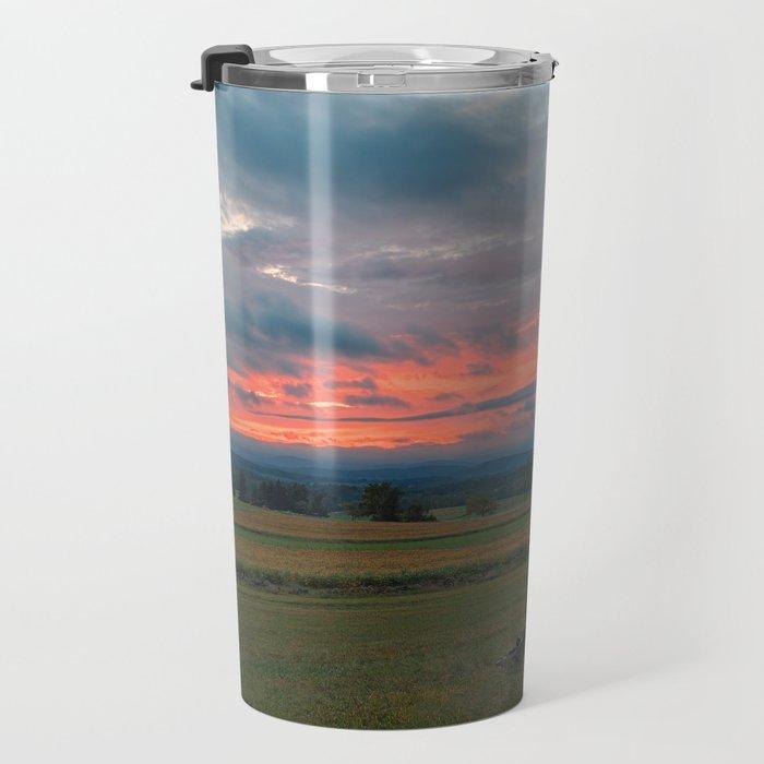 Gettysburg Cannon Sunset Travel Mug
