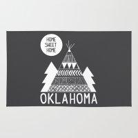 oklahoma Area & Throw Rugs featuring Oklahoma by Ashley Love