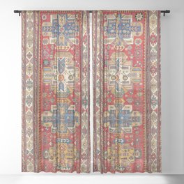 Daghestan Sumakh Northeast Caucasus Rug Print Sheer Curtain