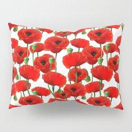 Red Poppy Pattern Pillow Sham
