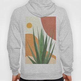 Abstract Agave Plant Hoody