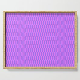 Modern abstract  geometrical blush pink violet pattern Serving Tray