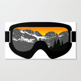 Sunset Goggles 2 | Goggle Designs | DopeyArt Canvas Print