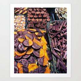 Chocolates Art Print