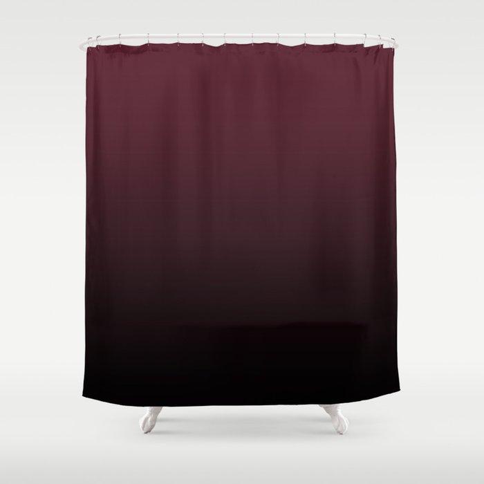 Burgundy Wine Ombre Gradient Shower Curtain