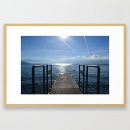 Dock to Heaven Framed Art Print