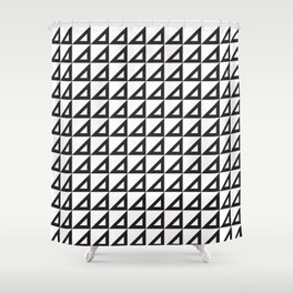 Right triangle mark Shower Curtain