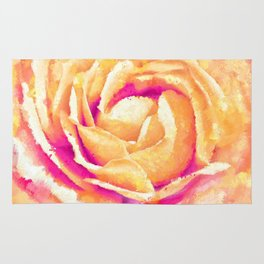 Abstract Colorful Rose Flower Artwork Rug