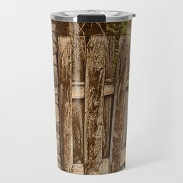 Old Rustic Wooden Fence Travel Mug