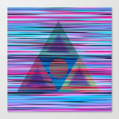 Lines and triangles Canvas Print