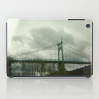 marc johns iPad Cases featuring St. Johns Bridge by AmyLange
