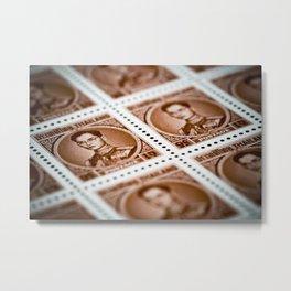 Thai King Postage Stamp Metal Print