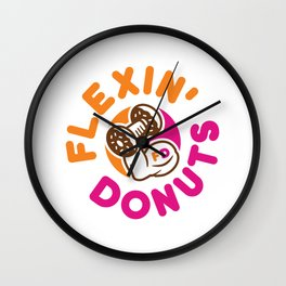 Flexin Donuts Wall Clock