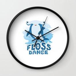 Floss Dance Move Hammerhead Shark Wall Clock