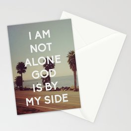 I Am Not Alone, God Is By My Side - Bible Quote - Inspirational Quote Stationery Cards