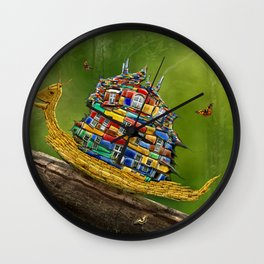 Forest Hike Wall Clock