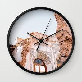 Hidden tiled Moroccan wall Wall Clock